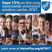Save 15% on the only nationwide unionized wireless carrier, AT&T