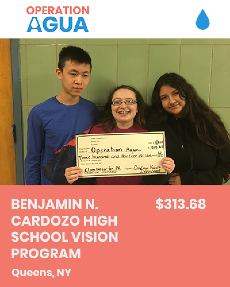 H20 Heroes - Benjamin N. Cardozo High School Vision Program