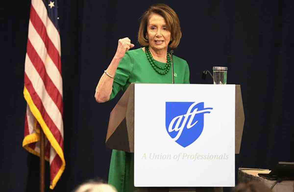Nancy Pelosi at AFT political conference