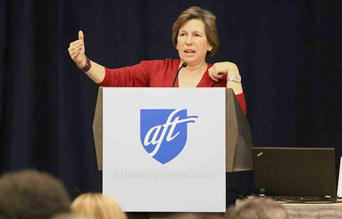 Randi Weingarten at AFT political conference