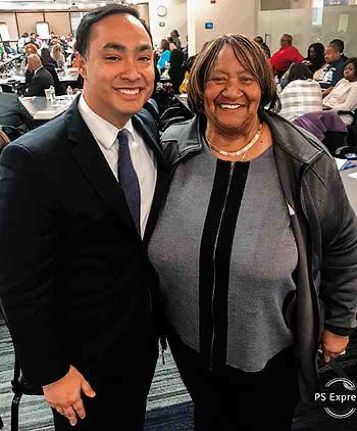 Lorretta Johnson and Joaquin Castro