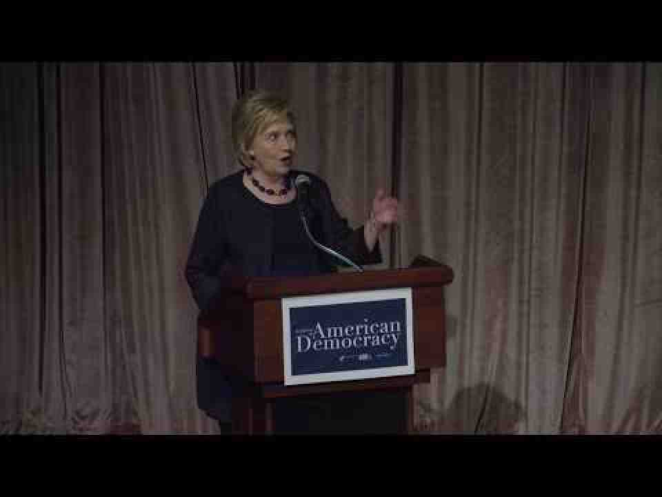 Former US Secretary of State, Hillary Clinton - In Defense of American Democracy