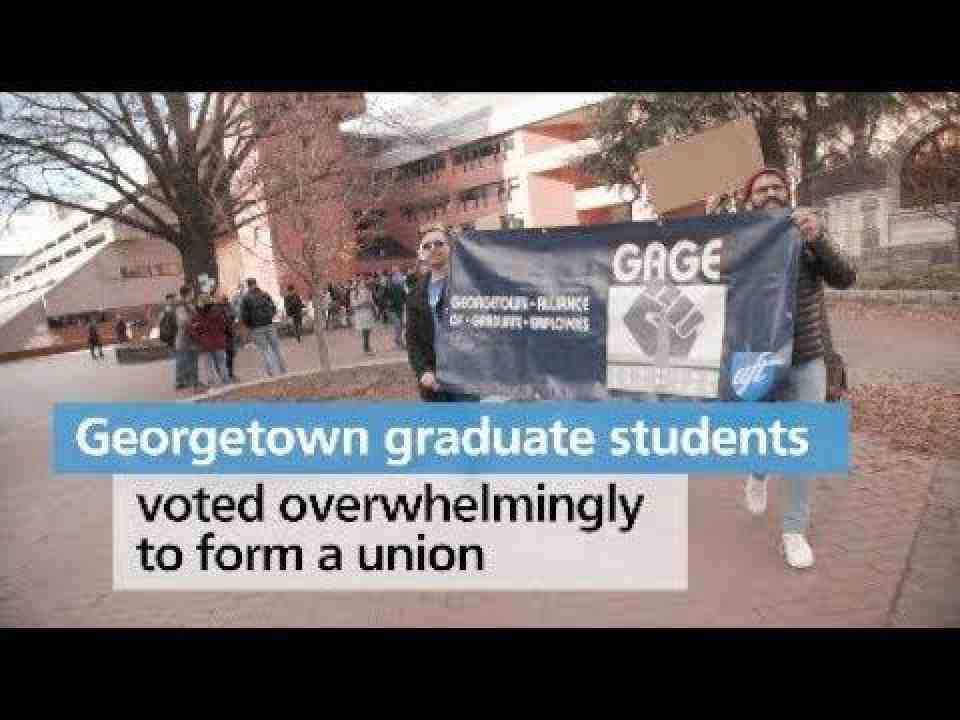 Grad employees at Georgetown Univ. join AFT