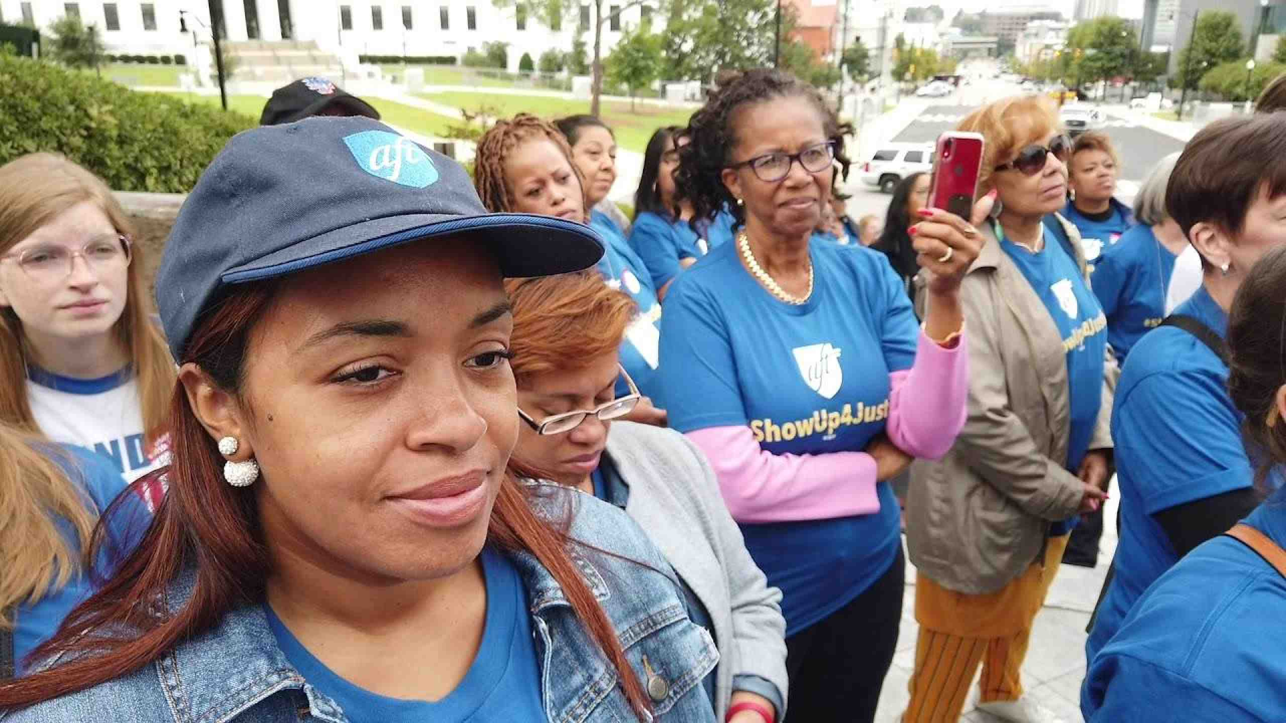 AFT members, leaders and allies rally for justice in Montgomery, Ala.