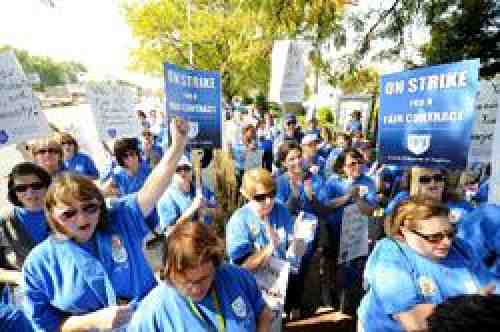 Evergreen Park educators strike