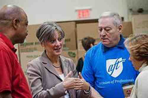 Allyson Schwartz and AFT Leaders