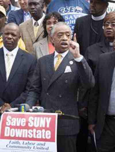 REv. A. Sharpton at Suny Downstate Rally