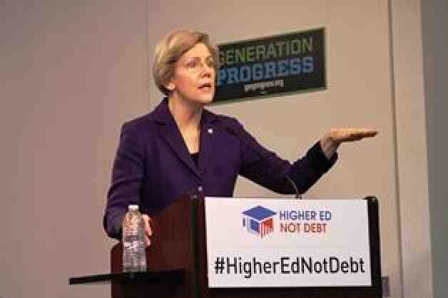 Sen. Elizabeth Warren (D-Mass.) at the Higher Ed, not debt launch