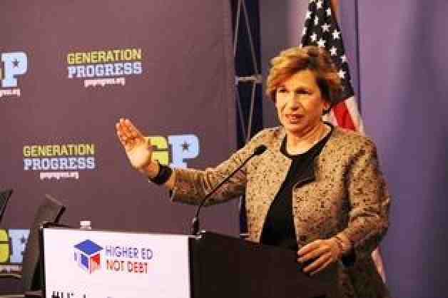 Randi Weingarten at Higher Education, not debt launch