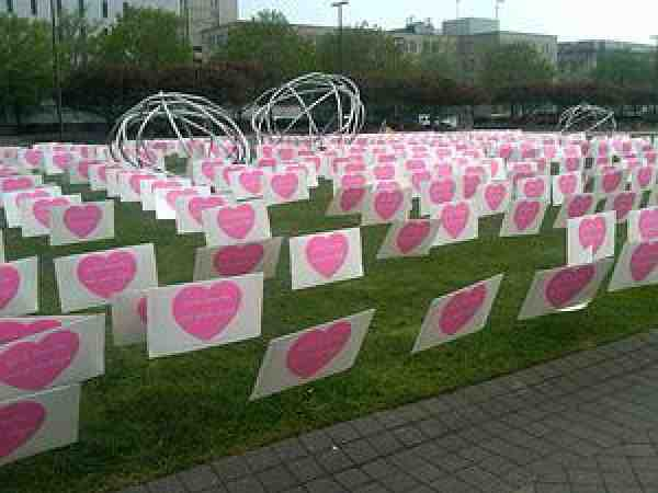 Pink Hearts in Cleveland