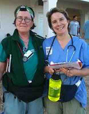 RNs Joan Carson and Jackie Schlein.