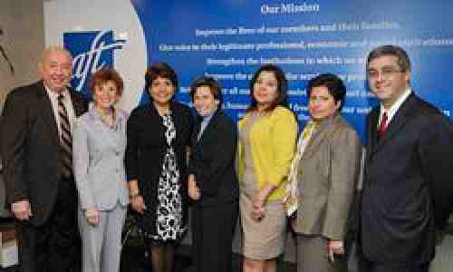 AFT Officers and other participants at the Latino Summit 2010