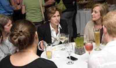 Randi Weingarten at Rhode Island reception. Photo by Constance Brown.