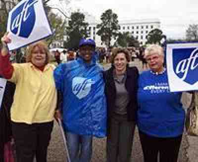 Randi with AFT members in Alabama