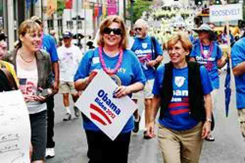 AFT president Randi Weingarten in Pittsburgh on Labor Day 2012