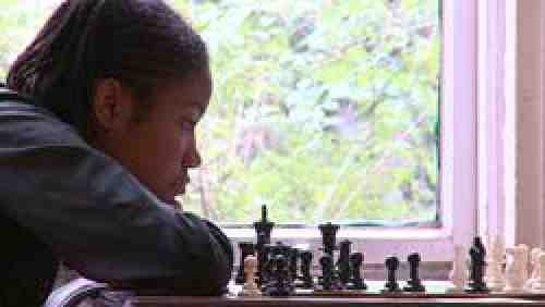 Rochelle at the chess board. Photo: Producers Distribution Agency