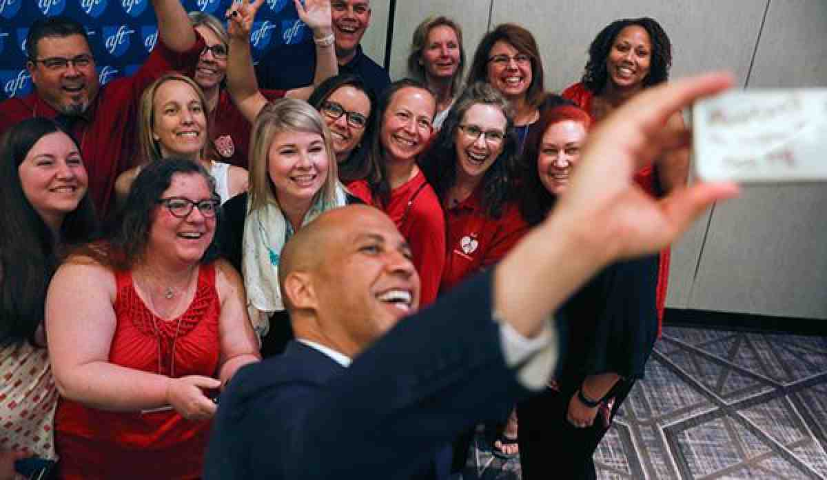 NHP PIC 2018 selfie with Corey Booker