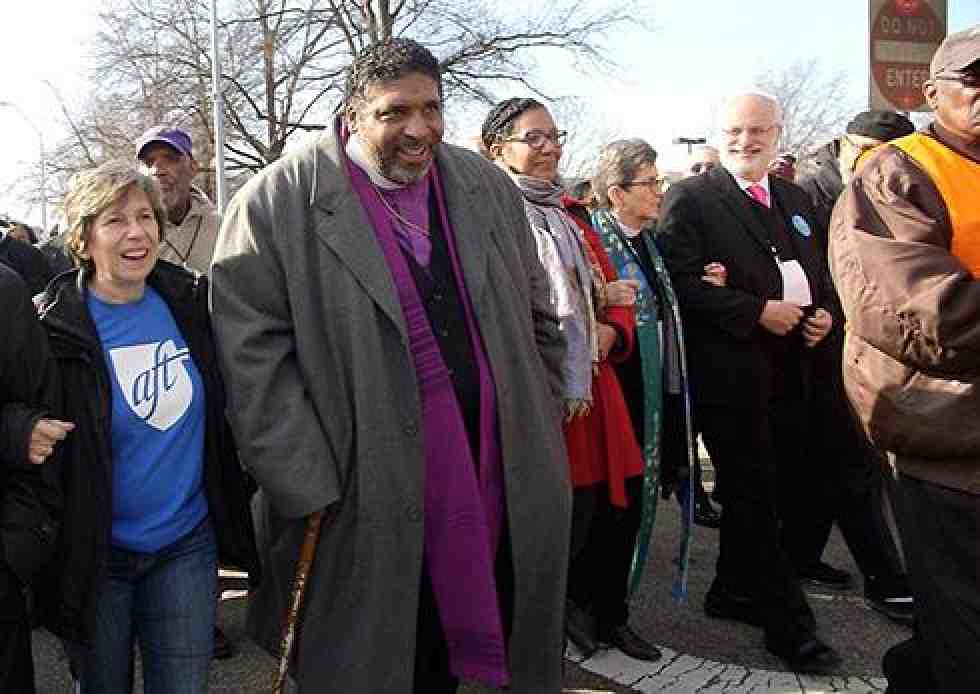 Randi Weingarten, Rev. Barber at Moral March