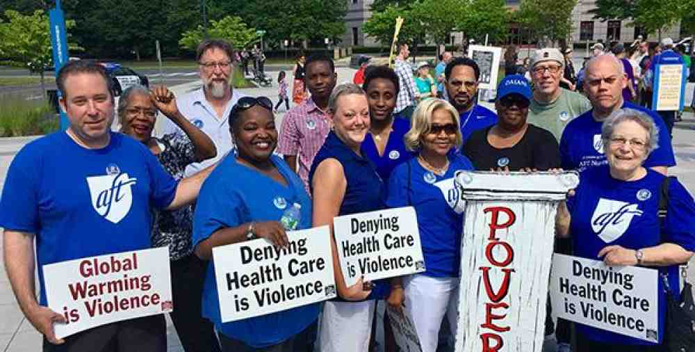 CT healthcare at Poor People's Campaign rally