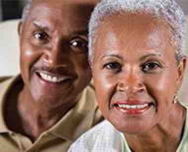 African-American couple senior