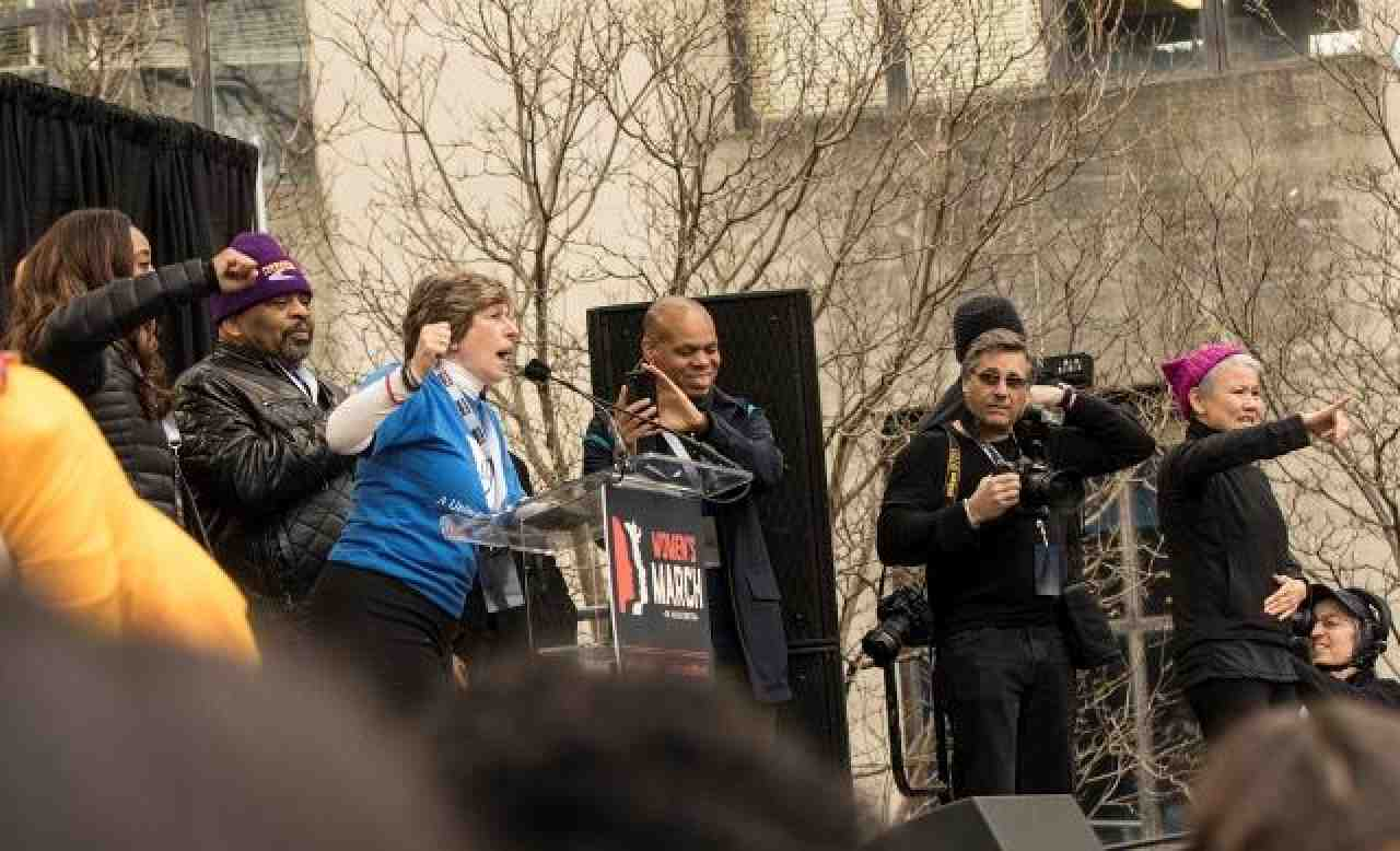 Randi Weingarten at Women's March