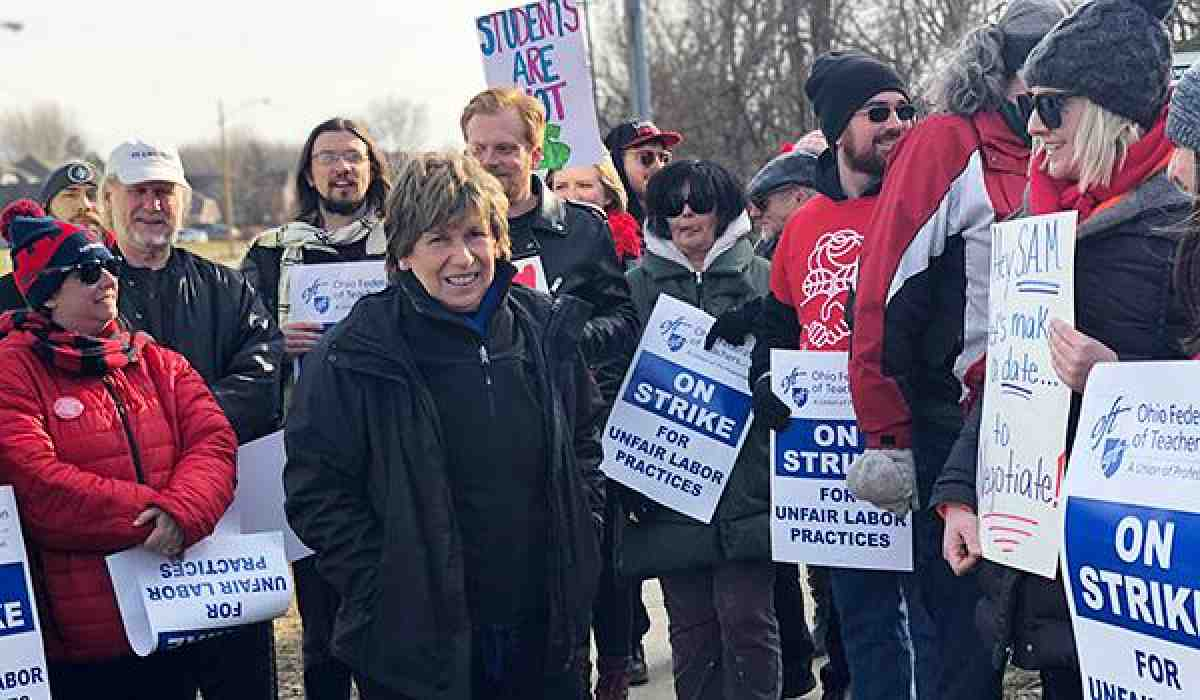 Summit Academy strike with Randi Weingarten