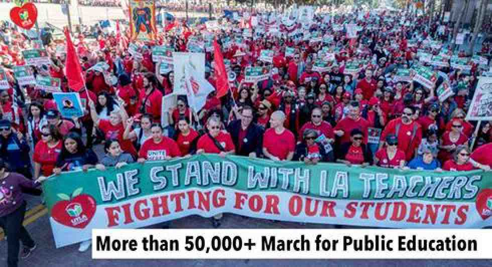 Marchers for UTLA
