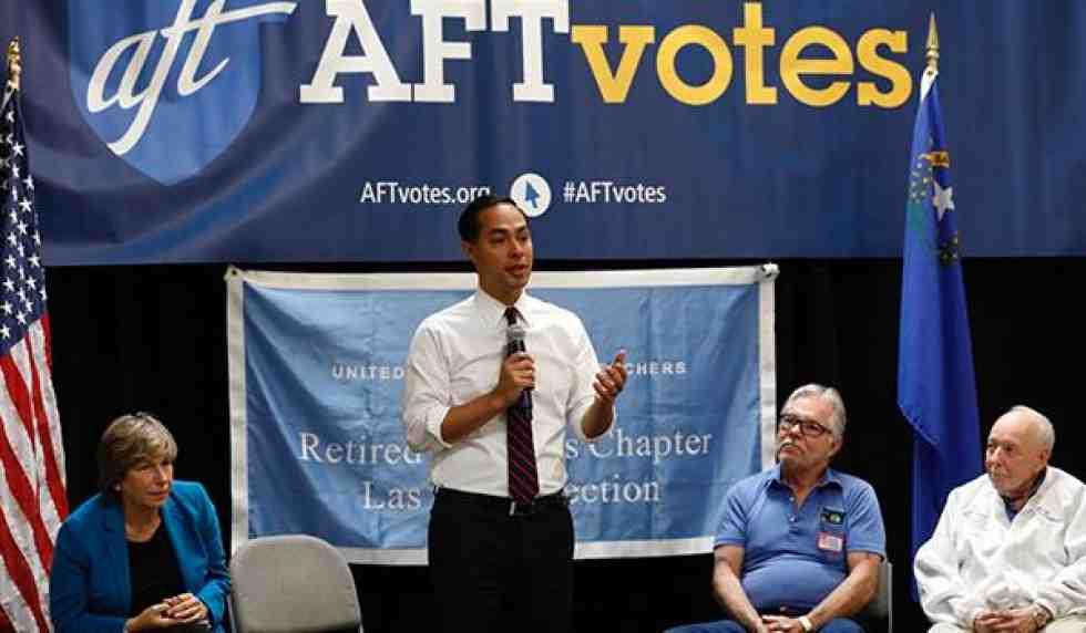 julian castro at aft townhall
