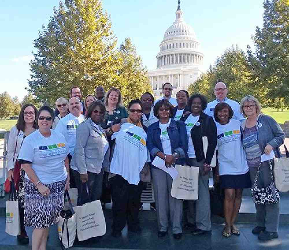 AFT members lobbying on Capitol Hill