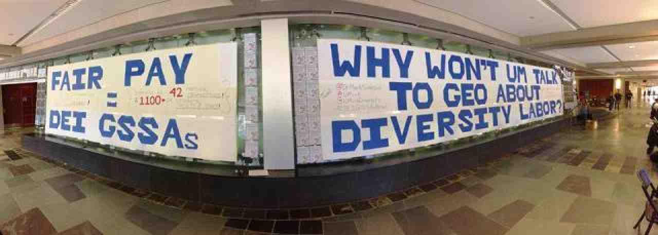 Diversity banners at the University of Michigan