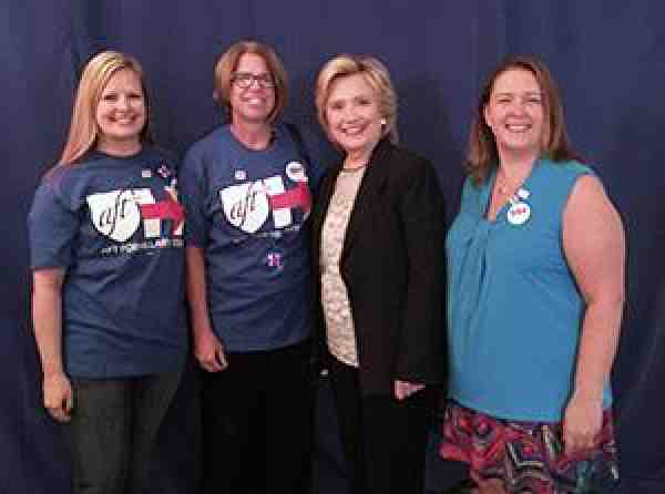 Hillary Clinton with Ohio members