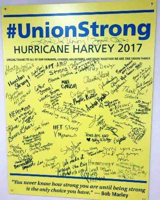 Union Strong sign
