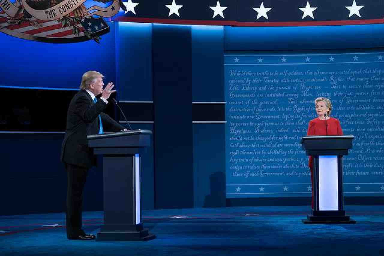 A scene from the debate