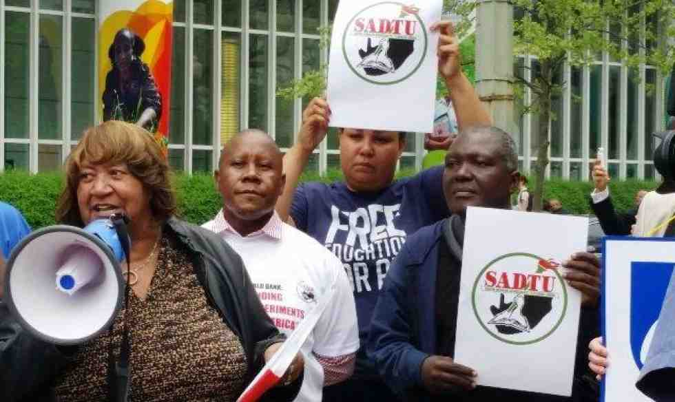 Lorretta Johnson at World Bank protest