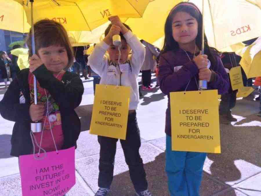 Kids at New Mexico march