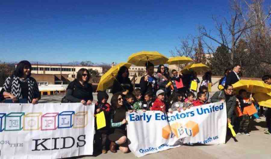 Marchers at New Mexico 1,000 kids rally
