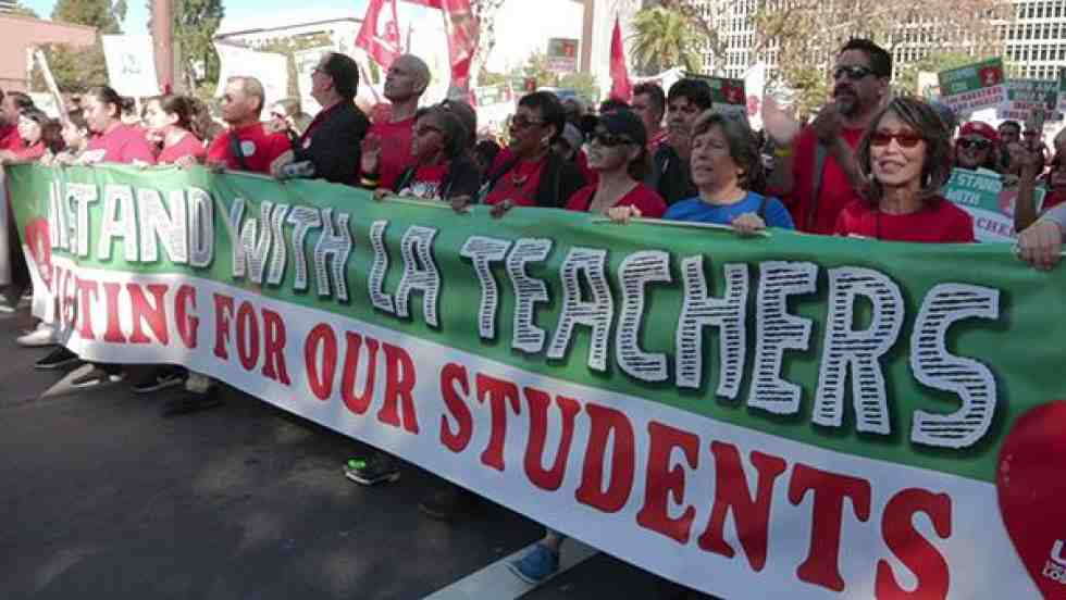 Randi Weingarten at UTLA march