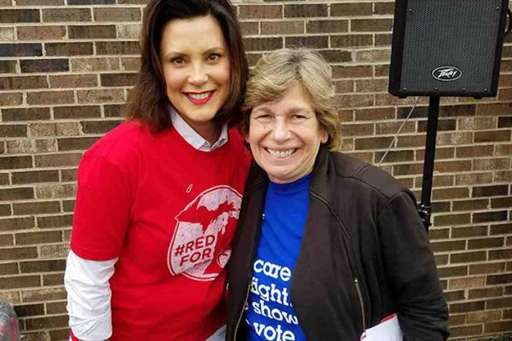 Randi Weingarten with Gretchen Whitmer