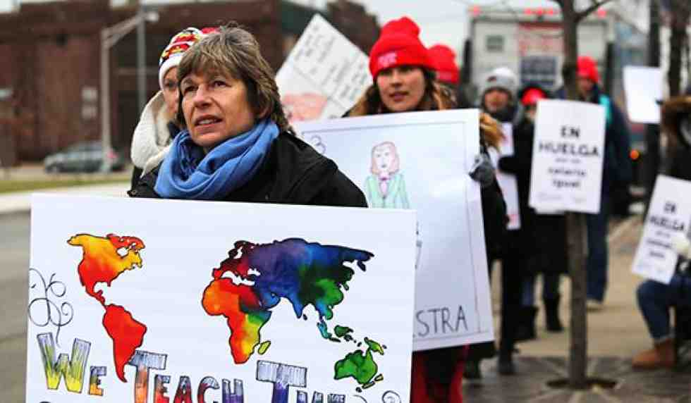 Randi Weingarten at Chicago teachers strike