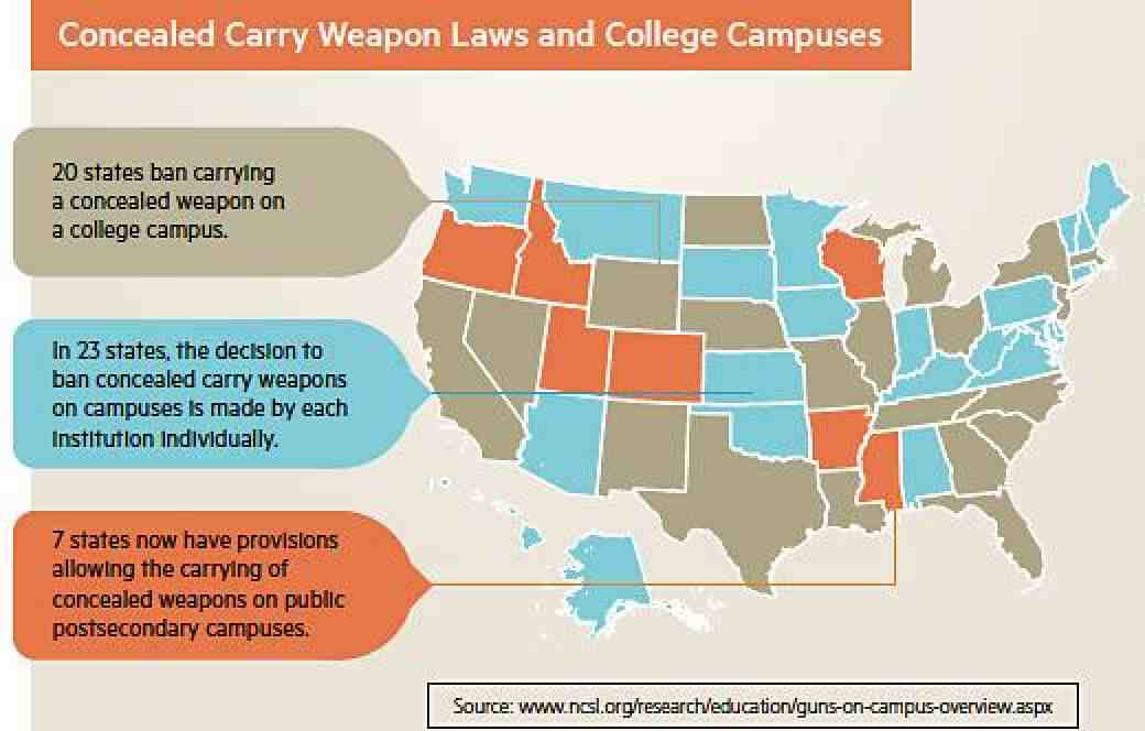 On Campus Summer 2015, Concealed weapon laws image