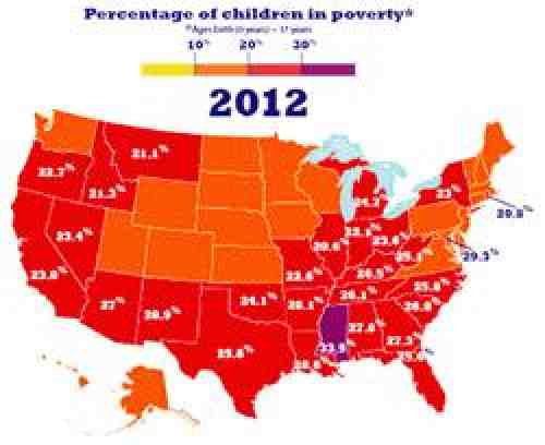 Child poverty map