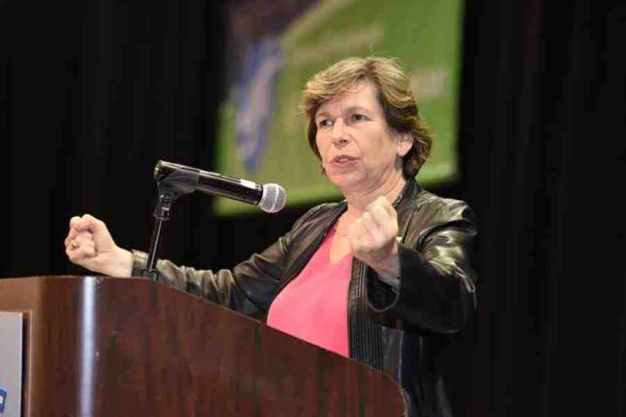 Weingarten addressing the conference