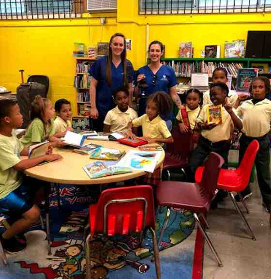 U.S. Virgin Islands kids and AFT NHP members