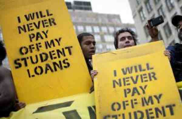 Student debt rally signs