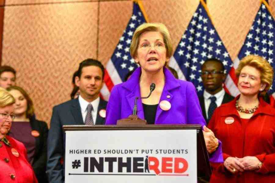 Sen. Warren at student debt event