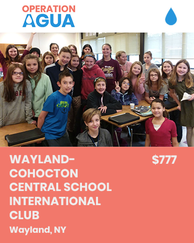 H20 Heroes - Wayland-Cohocton Central School International Club