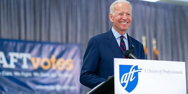 Joe Biden at AFT evenet