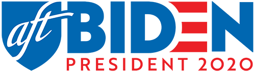 AFT for Biden logo white background