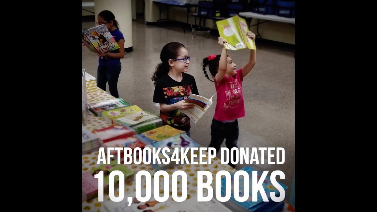 AFT Donates 10,000 Books to 2,100 Homeless Children in NYC