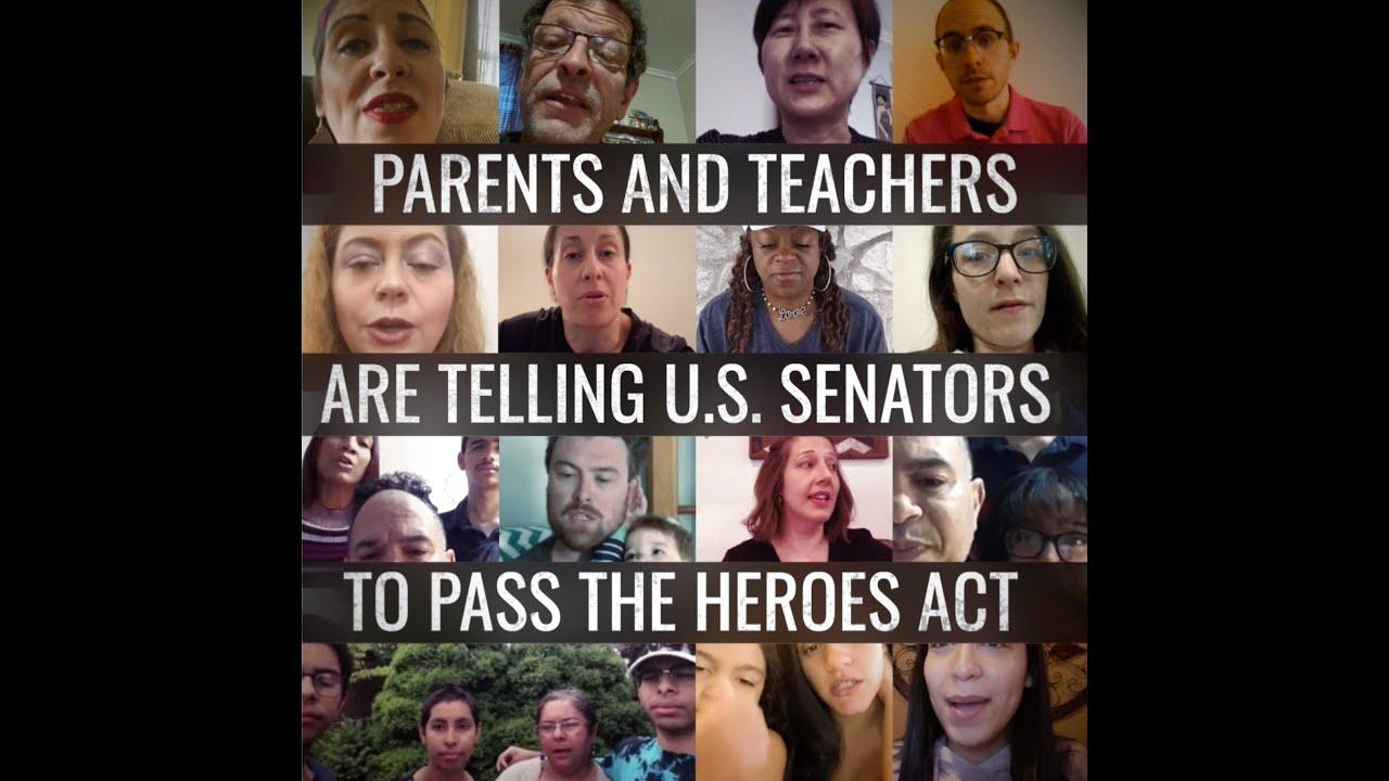 Teachers and Parents Call on Senate to Pass the HEROES Act